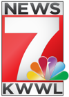Image of KWWL Channel 7 News Logo with link to weather page