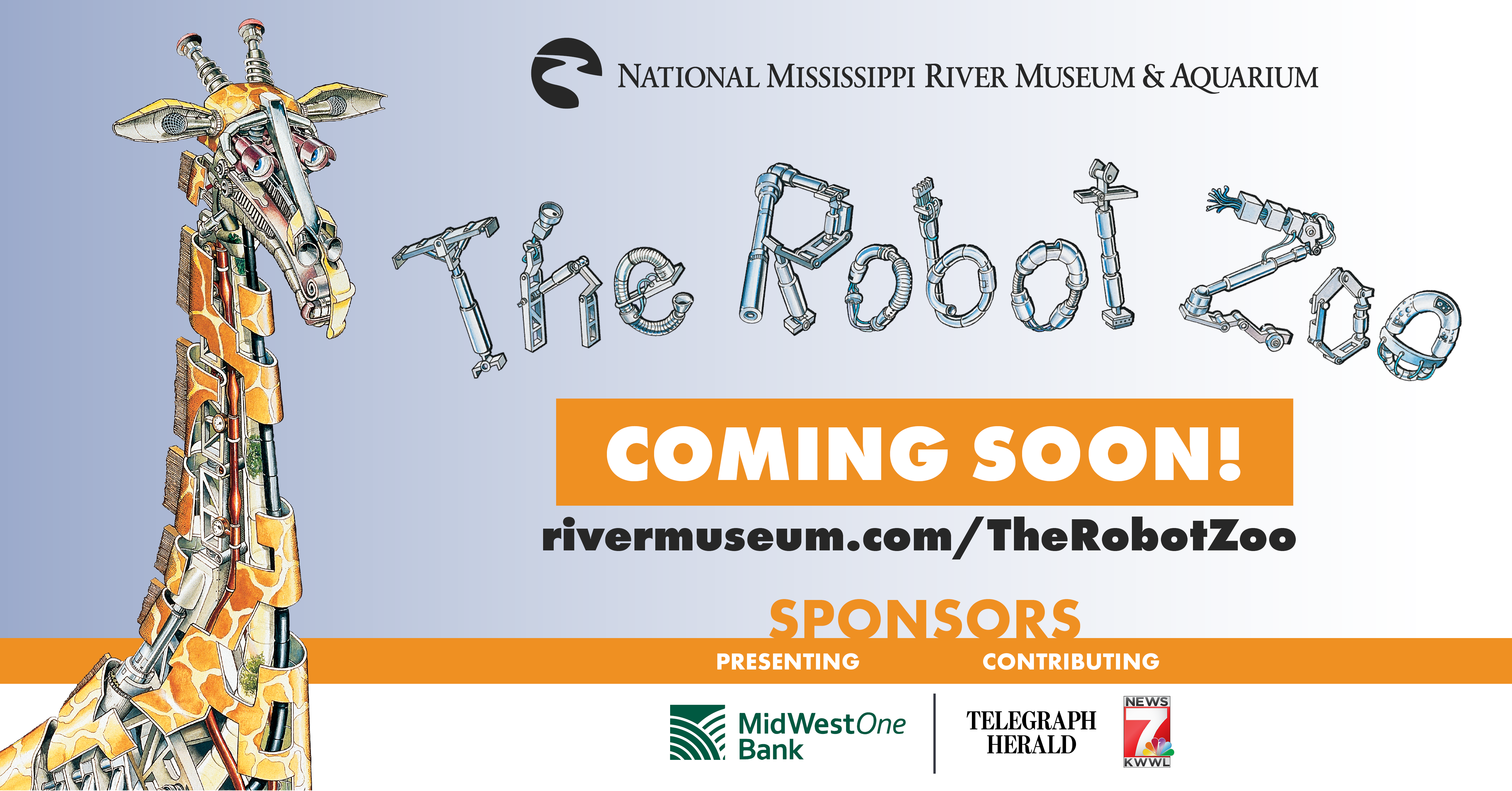 The Robot Zoo exhibit is coming soon to the River Museum.
