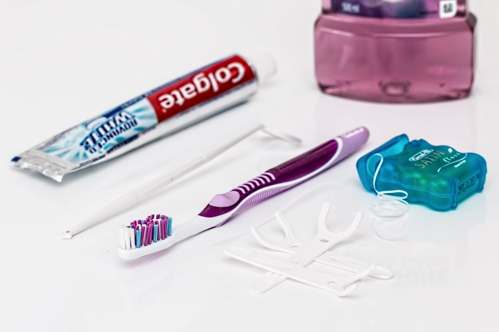 Toothpaste, Toothbrush, and Floss