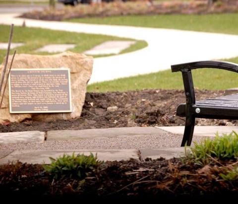 Bench dedication, Greenwood district, Tulsa.