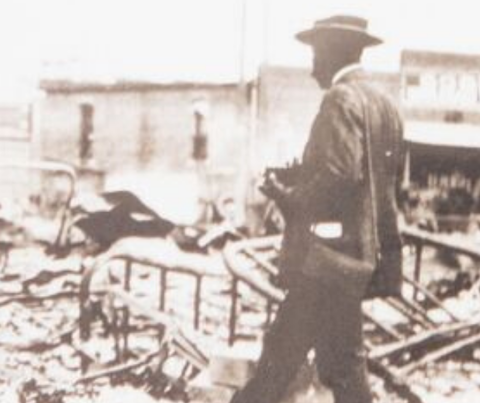 An image from the 1921 Tulsa Race Massacre.