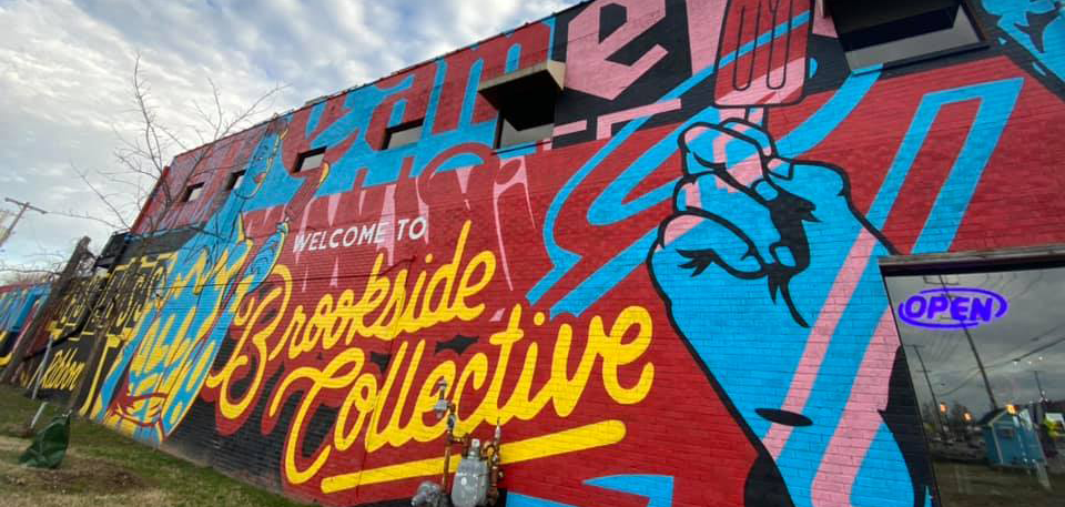 A mural at Brookside Collective Park in Tulsa, Oklahoma.
