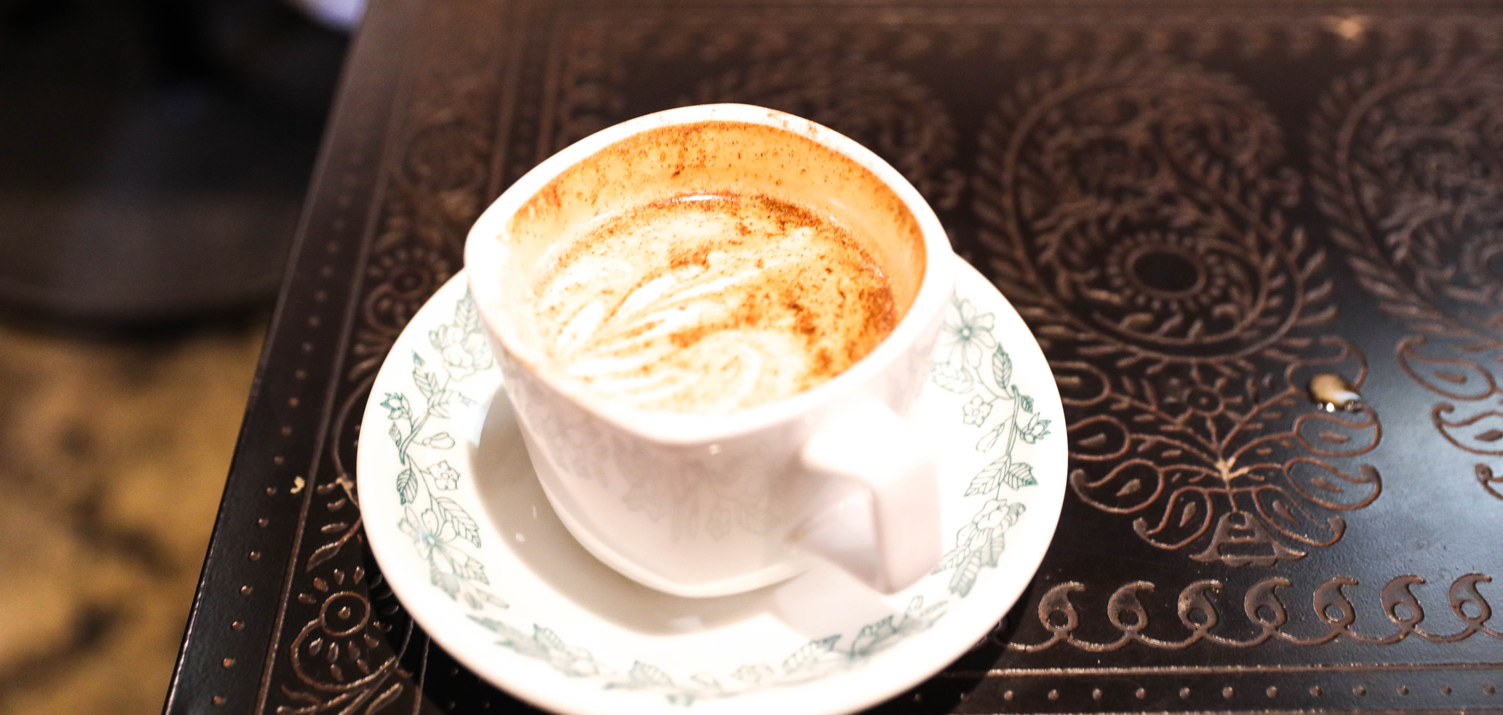 A chai latte at Coffee House on Cherry Street in Tulsa, Oklahoma