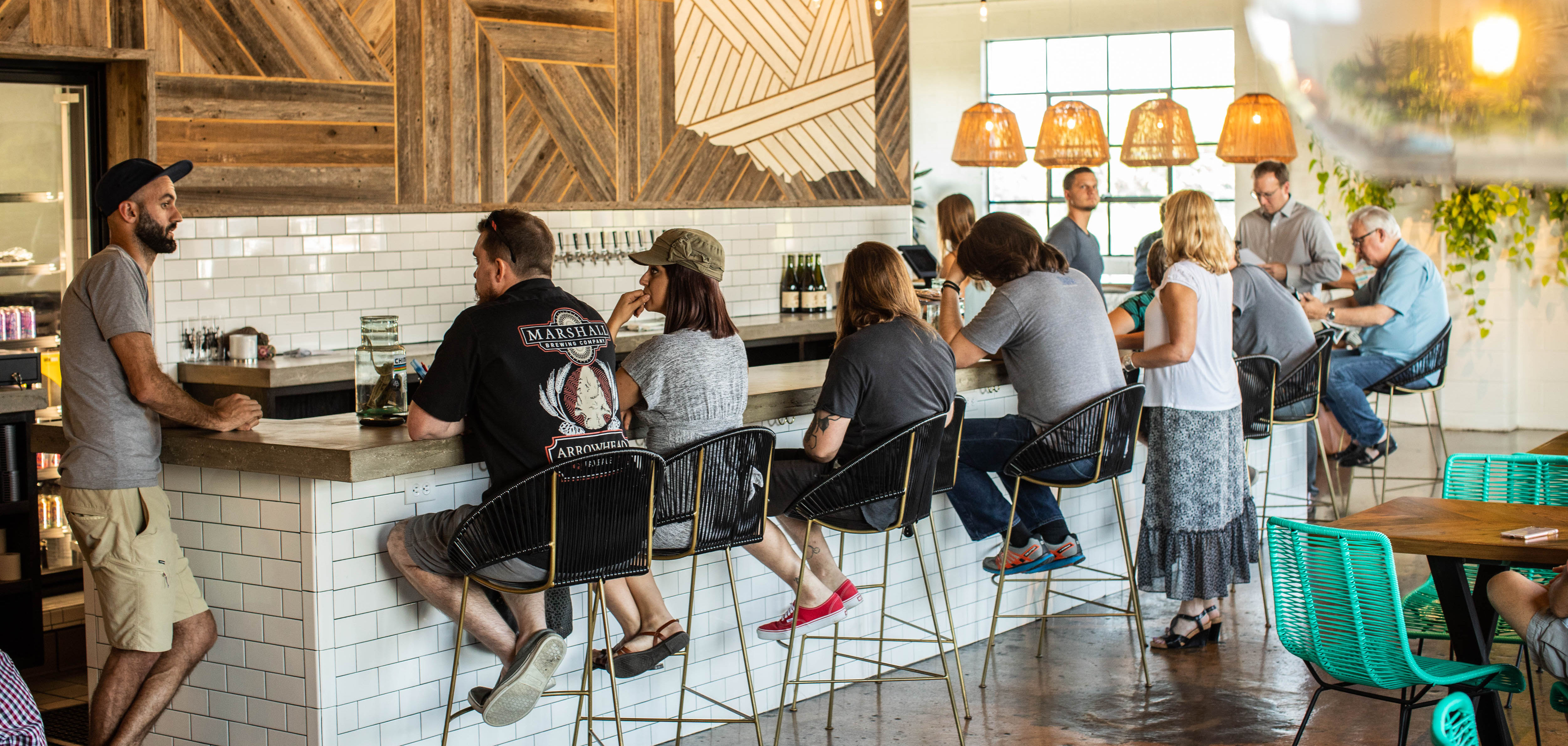 The interior of Heirloom Rustic Ales Tulsa's Kendall Whittier district.