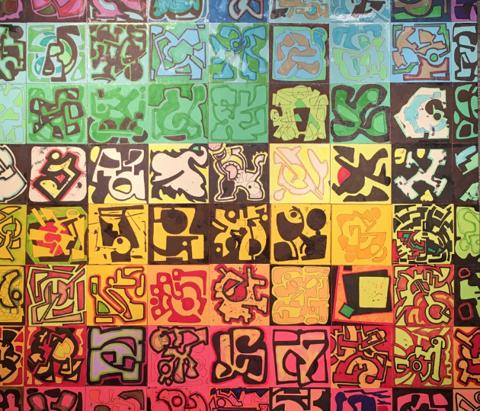 Painting at Liggett Studio, Tulsa, Oklahoma.