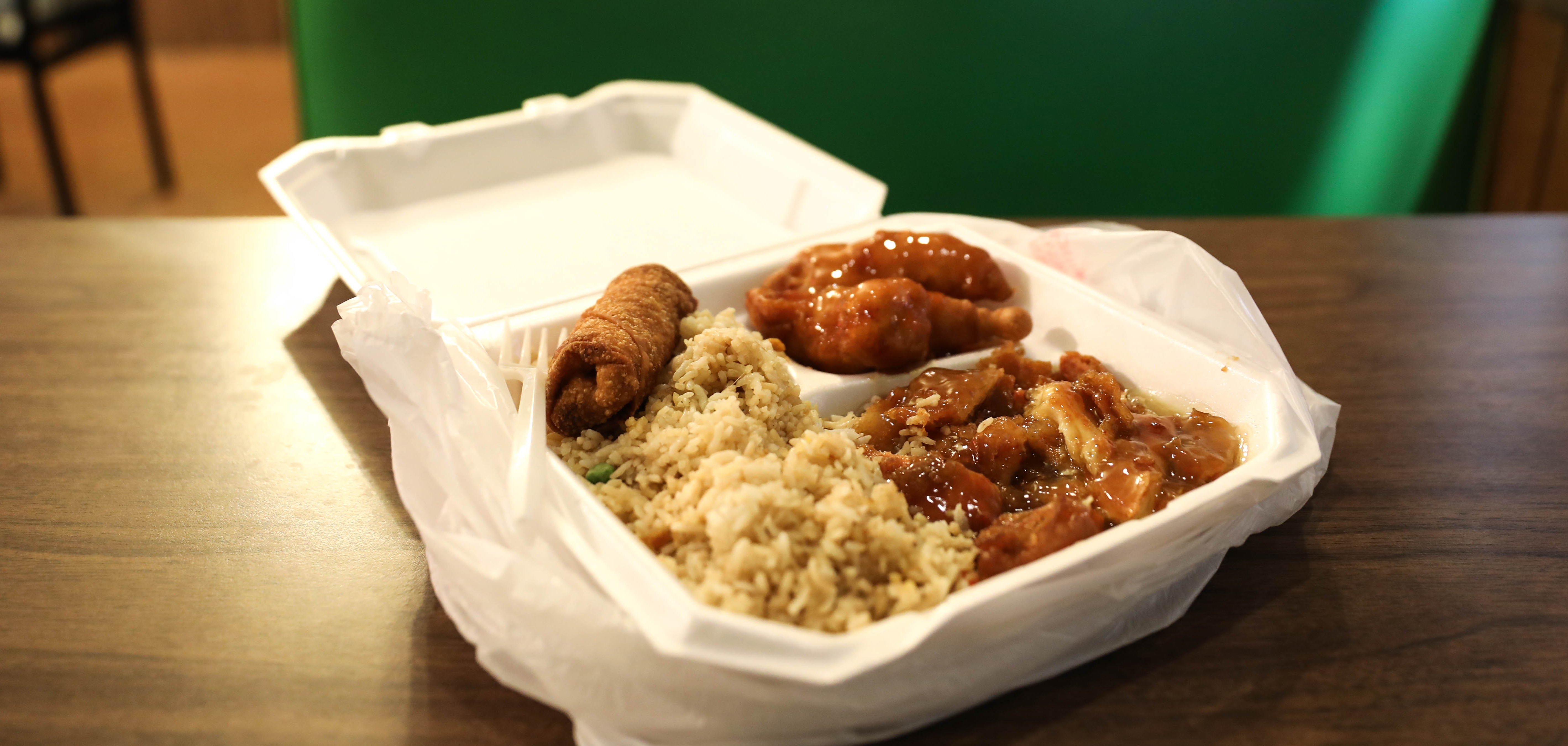 The lemon sweet and sour chicken from New Hong Kong on Tulsa, Oklahoma's Route 66