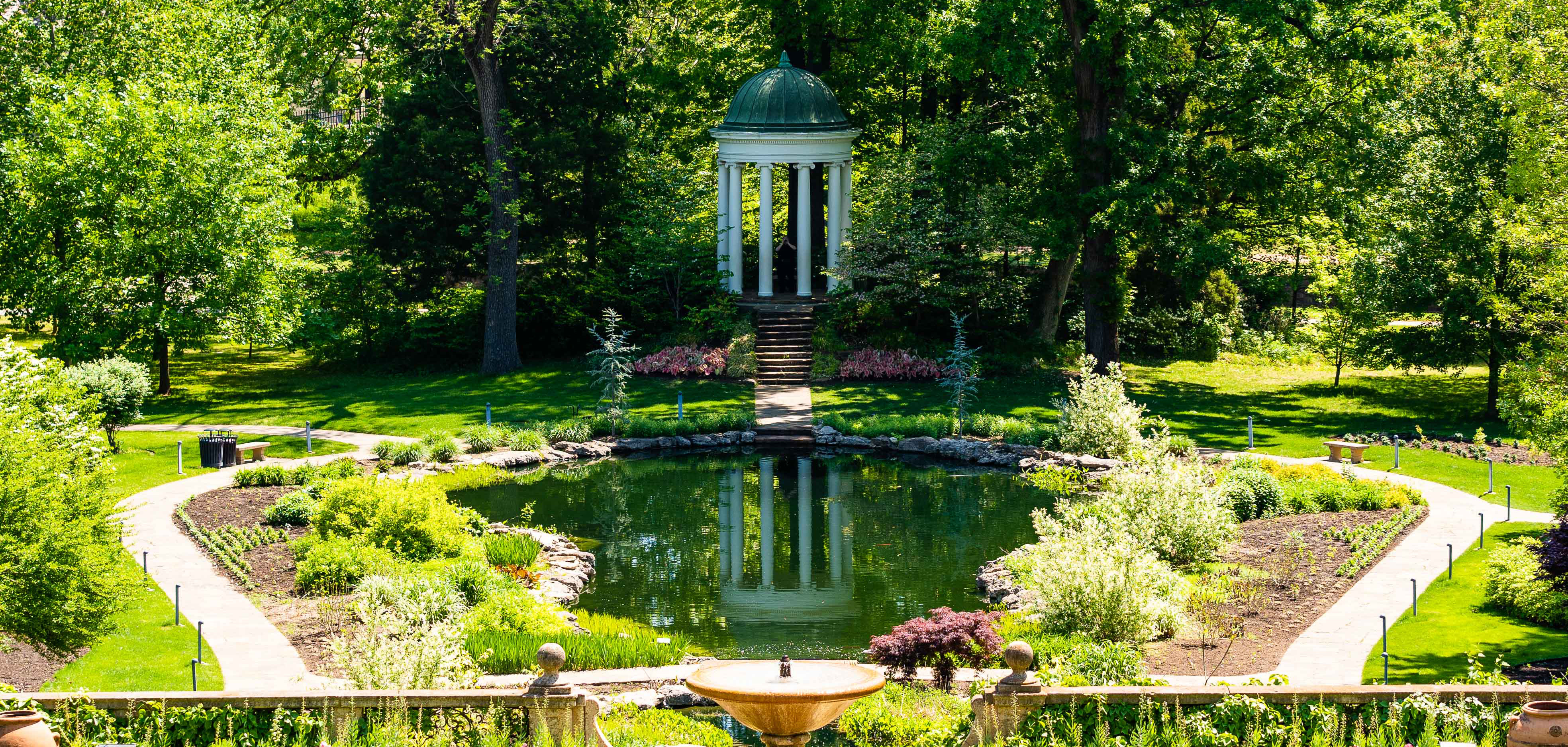 The gardens at Philbrook Museum of Art in Tulsa, Oklahoma are the perfect social distancing spot.