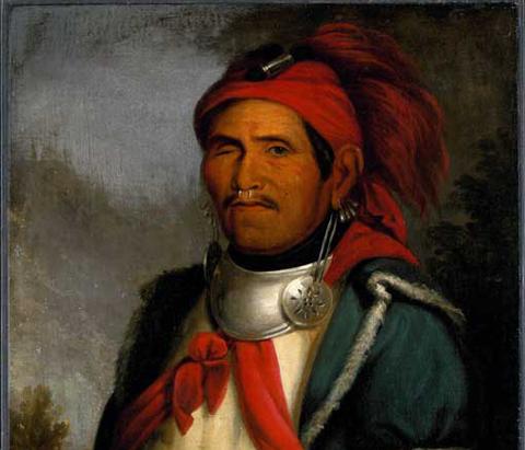 A portrait of Tecumseh, a Shawnee leader.