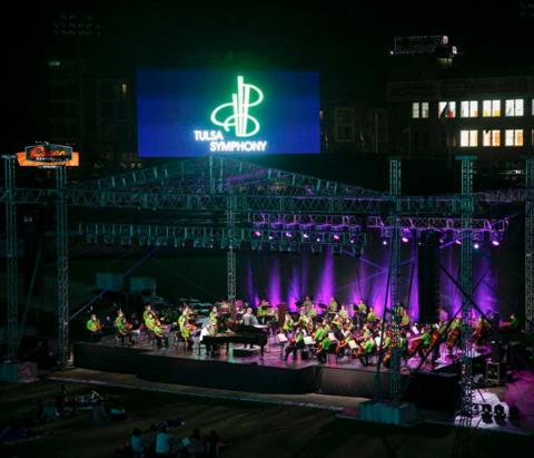 Tulsa Symphony playing at ONEOK Field.