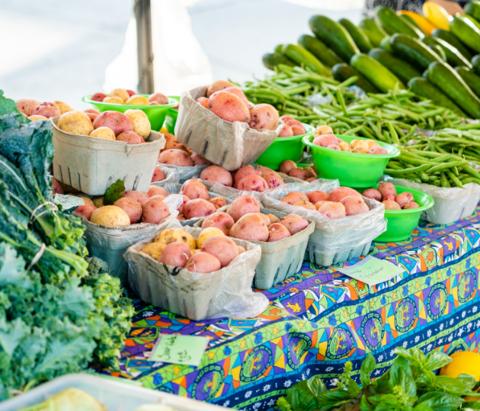 Produce at the Tulsa Farmers' Market on Cherry Street.
