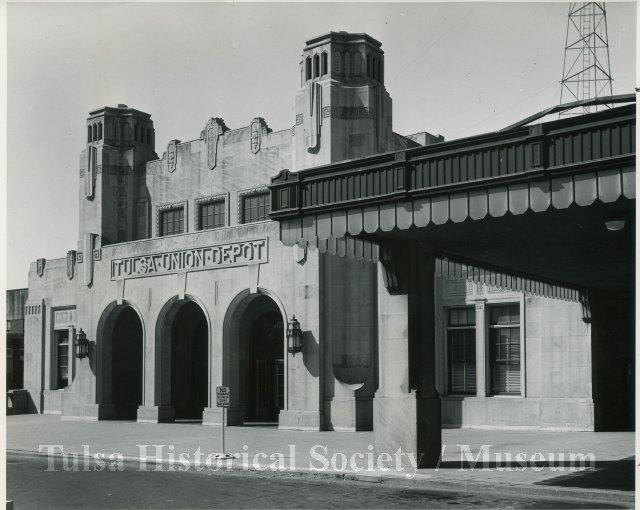 The Tulsa Union Depot building in downtown Tulsa, Oklahoma.