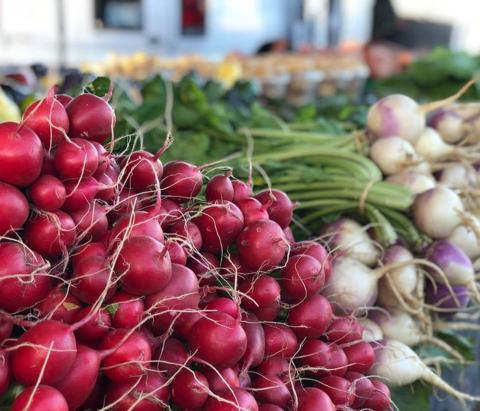 Produce at the Tulsa Farmers' Market.