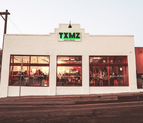 The restaurant TXMZ is seen in downtown Tulsa, Oklahoma.