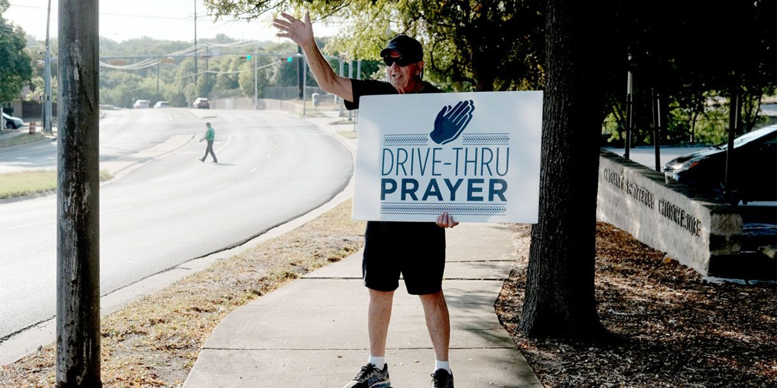 drive-thru prayer in Austin, TX