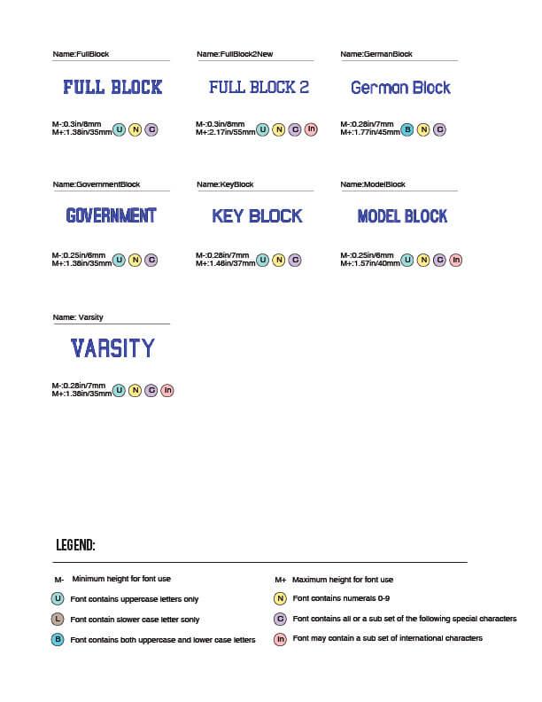 Stock Fonts