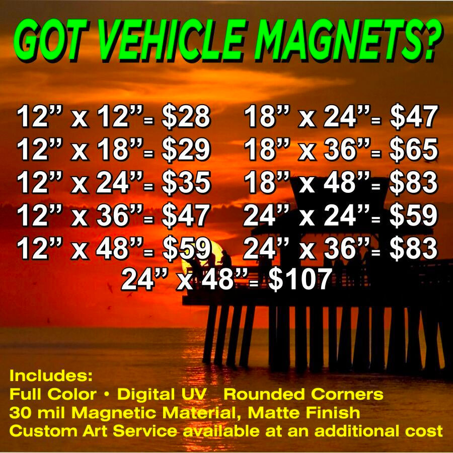 Car Magnet Pricing
