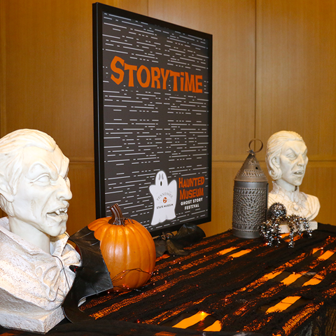 Halloween Decorations adorn the Museum halls.