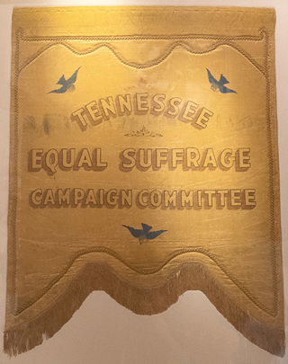 Banner for the Tennessee Equal Suffrage Committee