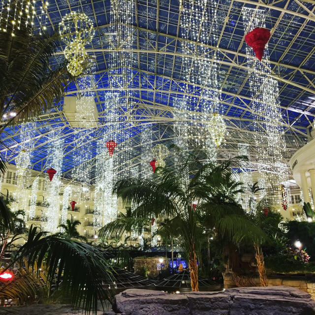 Some of the four million lights you'll see inside the hotel.