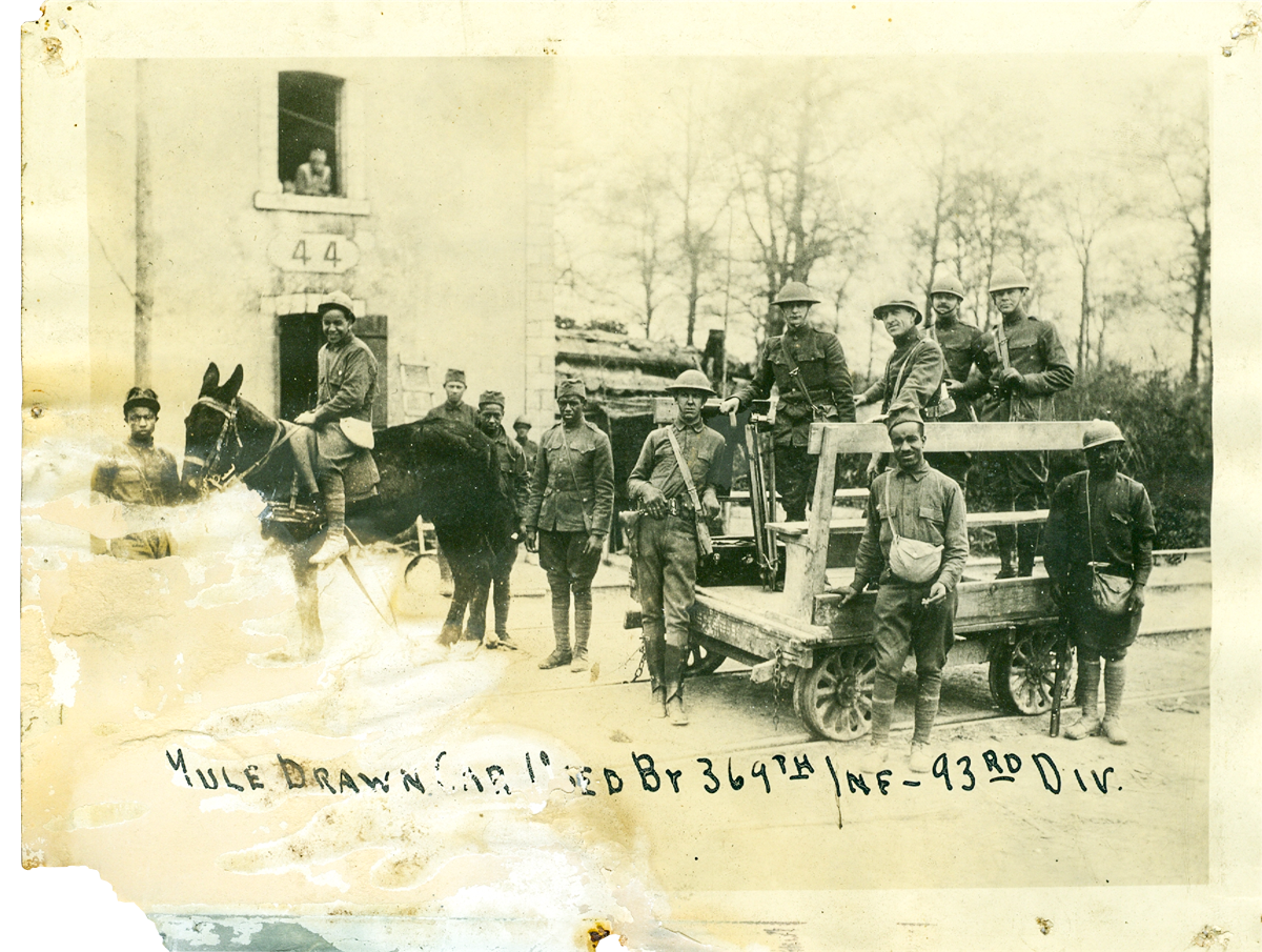 Soldiers in the segregated 93rd Division, Tennessee State Museum Collection.