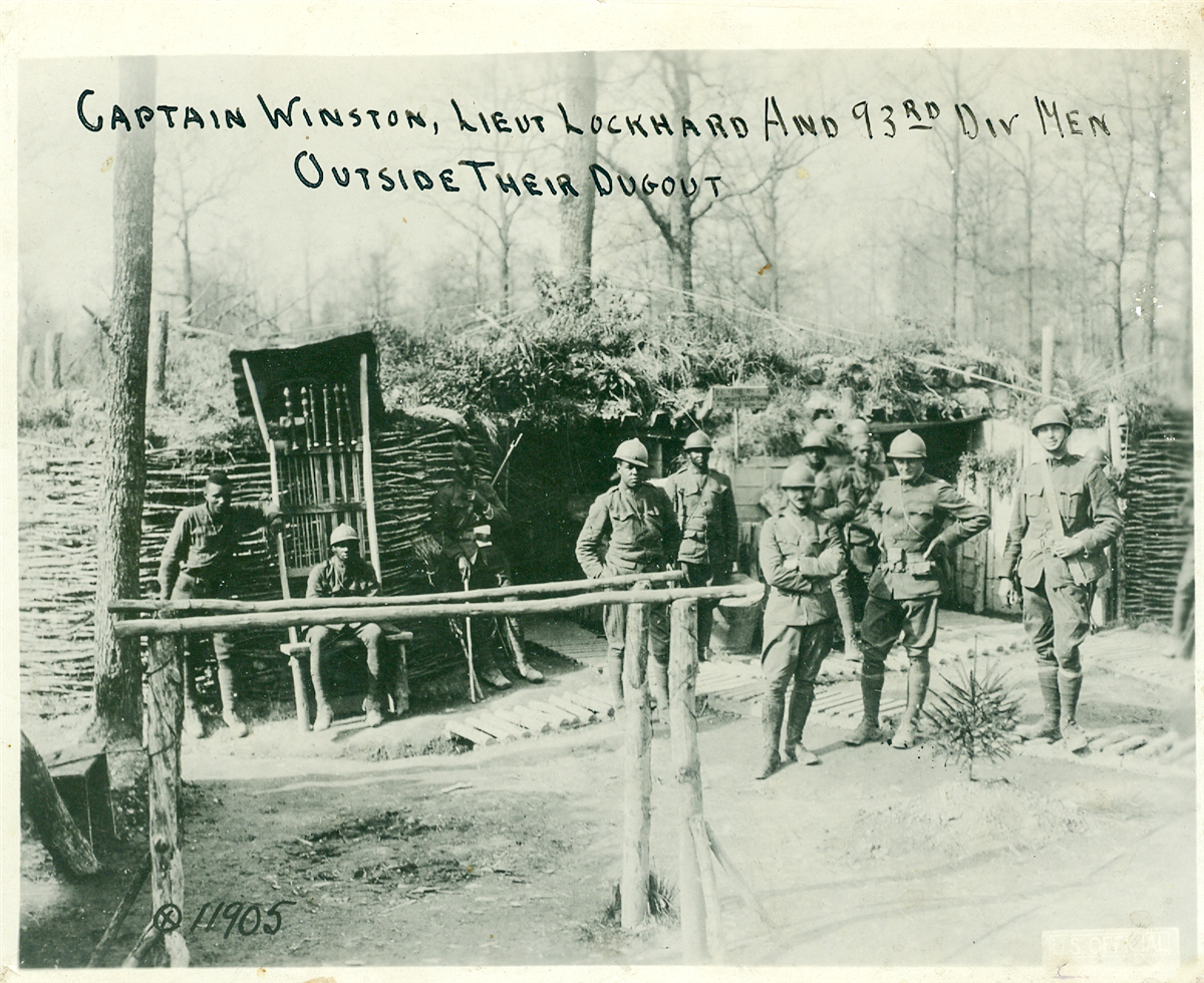 A photograph of soldiers in the segregated 93rd Division. Tennessee State Museum Collection.