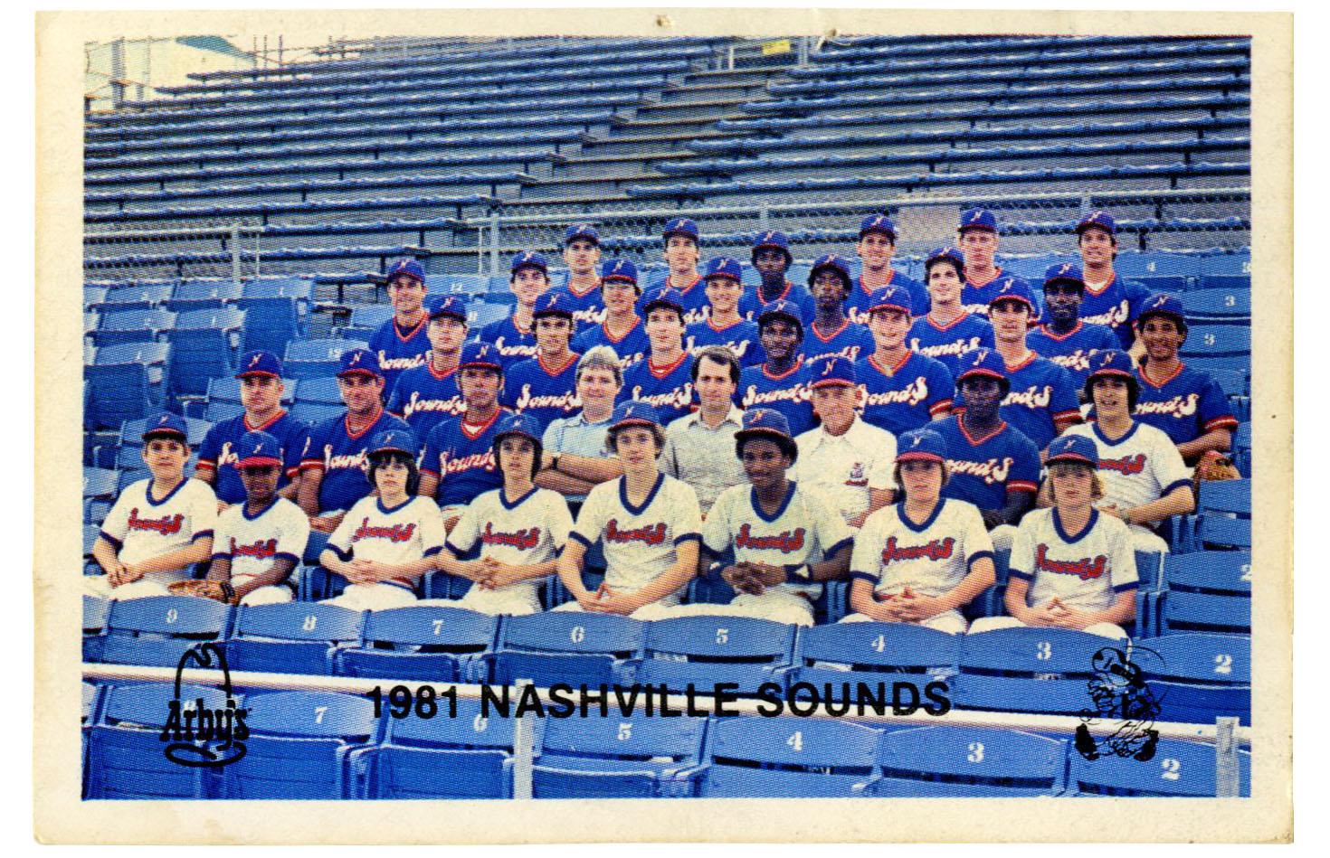 Nashville Sounds Team Photo 1981