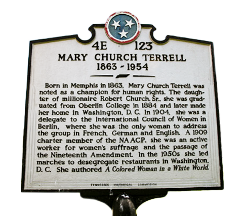 Historical Marker of Mary Church Terrell