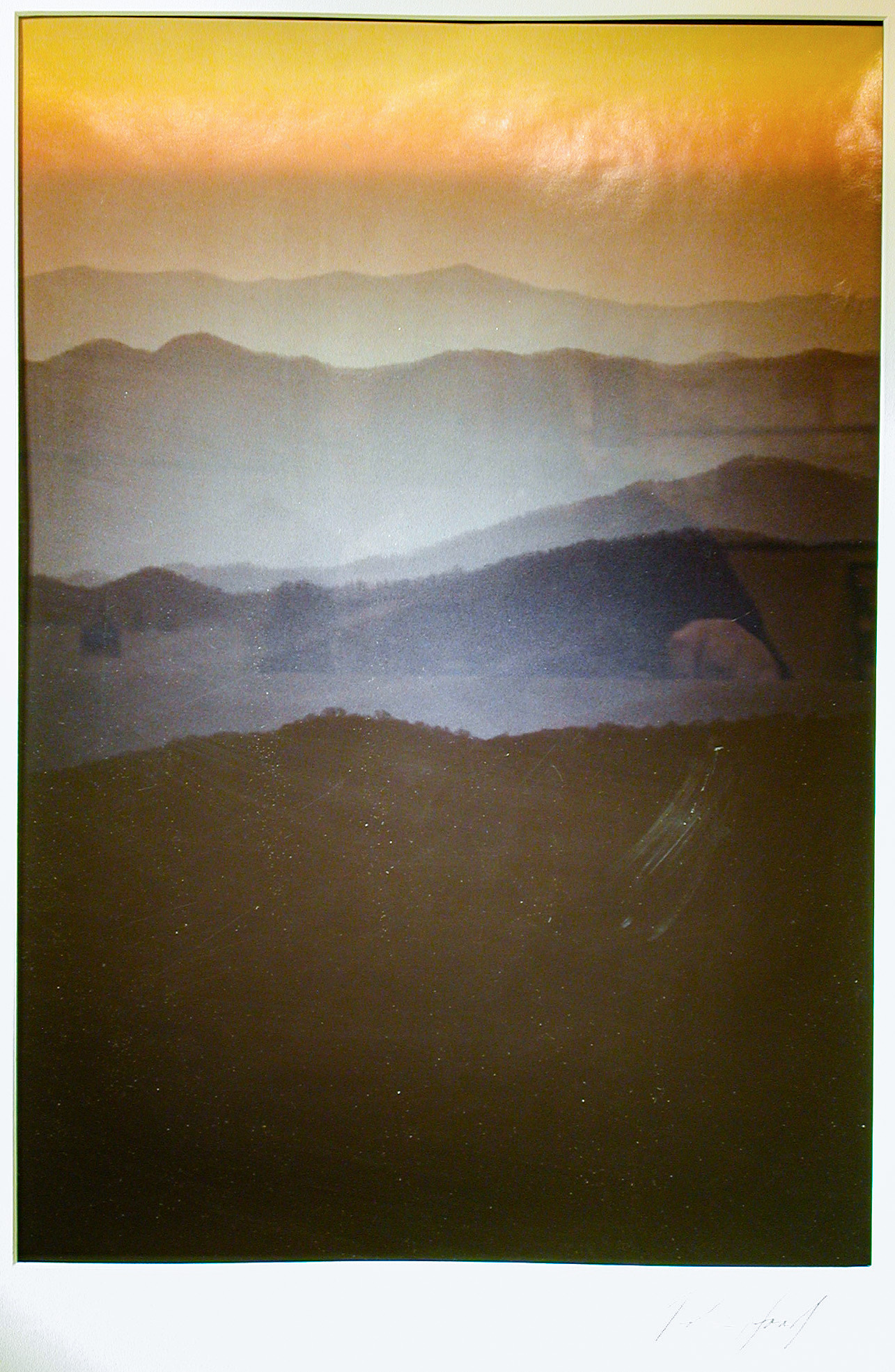 """""""Dusk, Great Smoky Mountains"""" photographic print by Robin Hood, 1994 (88.33)"""