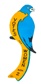 Massachusetts suffrage bluebird. Courtesy the National Museum of American History.