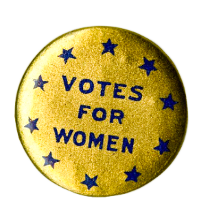 Pro-Suffrage Pin,National Museum of American History.