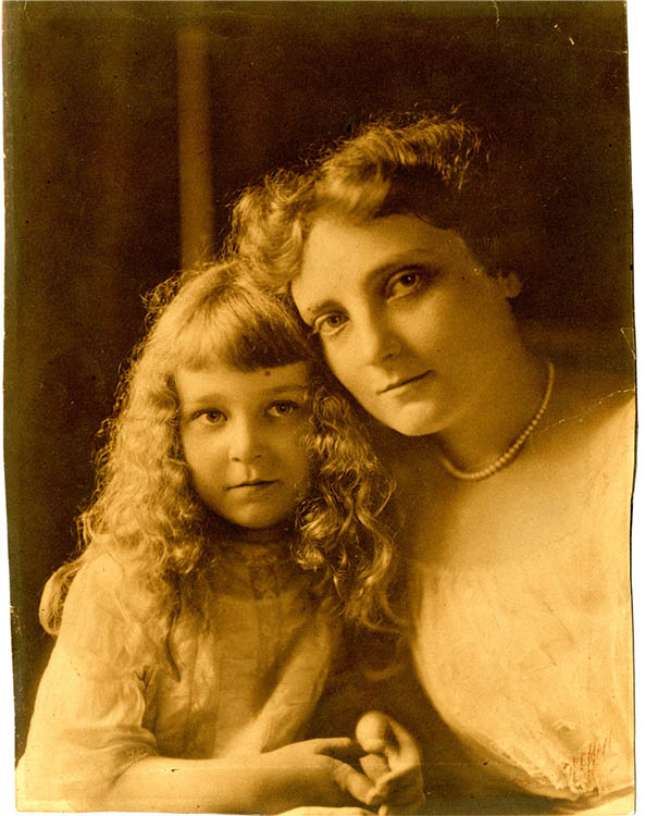 Anne Dallas Dudley with daughter Trevania Dallas Dudley