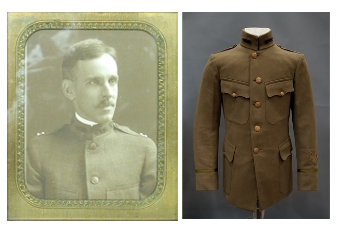 Dr. Albert W. Harris Portrait and Uniform