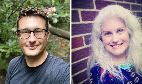 Aaron Deter-Wolf (left) and Tanya M. Peres, authors of Mastodons to Mississipians: Adventures in Nashville's Deep Past