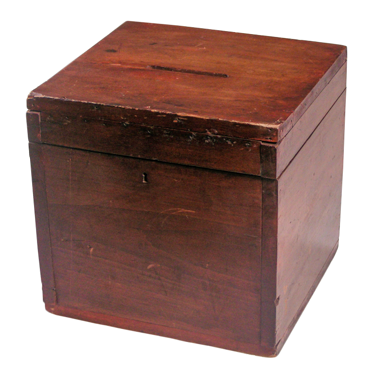 Ballot Box about 1850, Tennessee State Museum Collection.