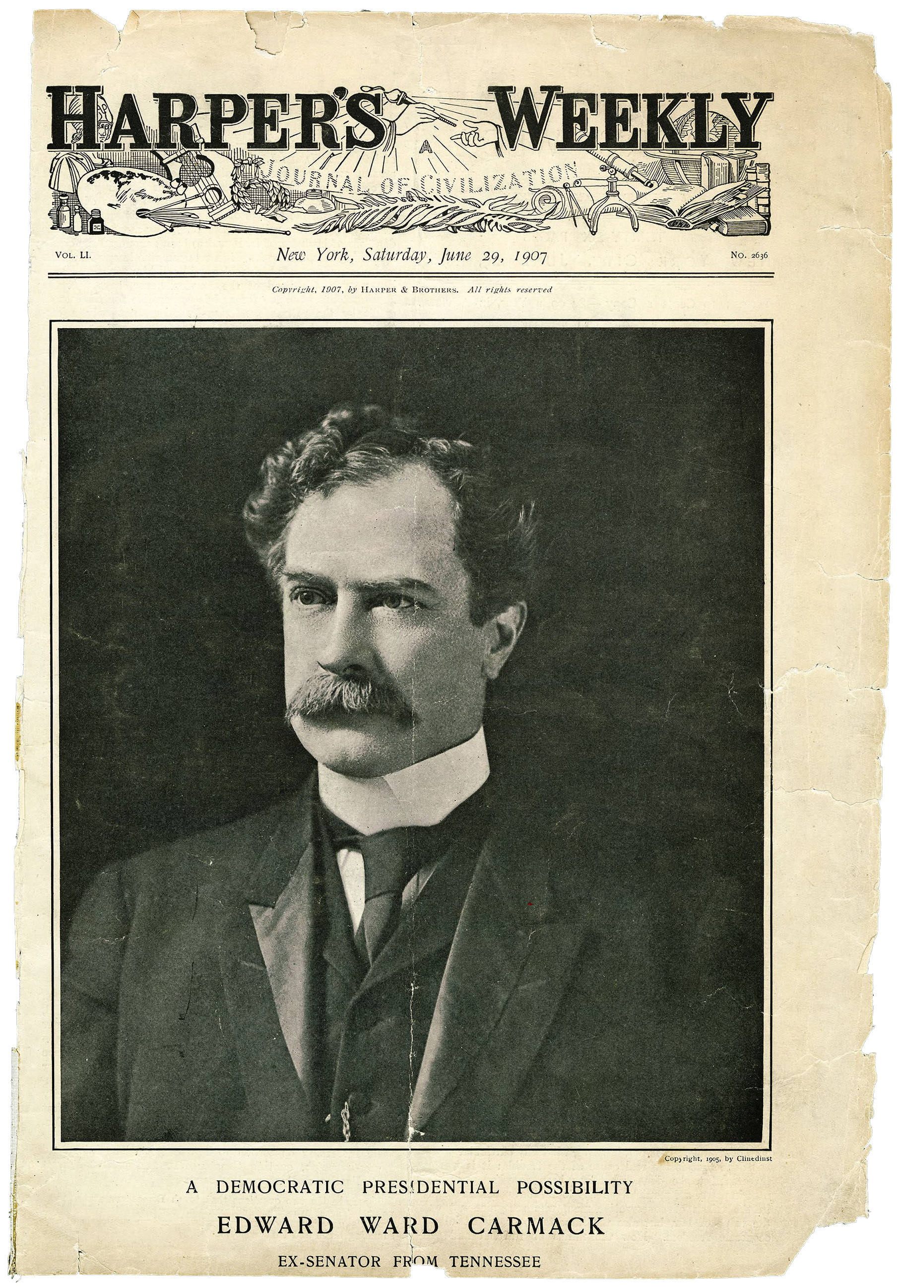 Edward Carmack, Harper's Weekly, 1907