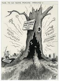 Cartoon from the Nashville Banner about Highlander Folk School, from TSLA.