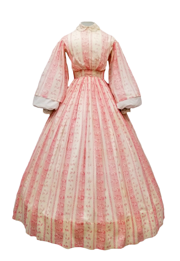 Dress belonging to Keziah Whiteside Burcham.