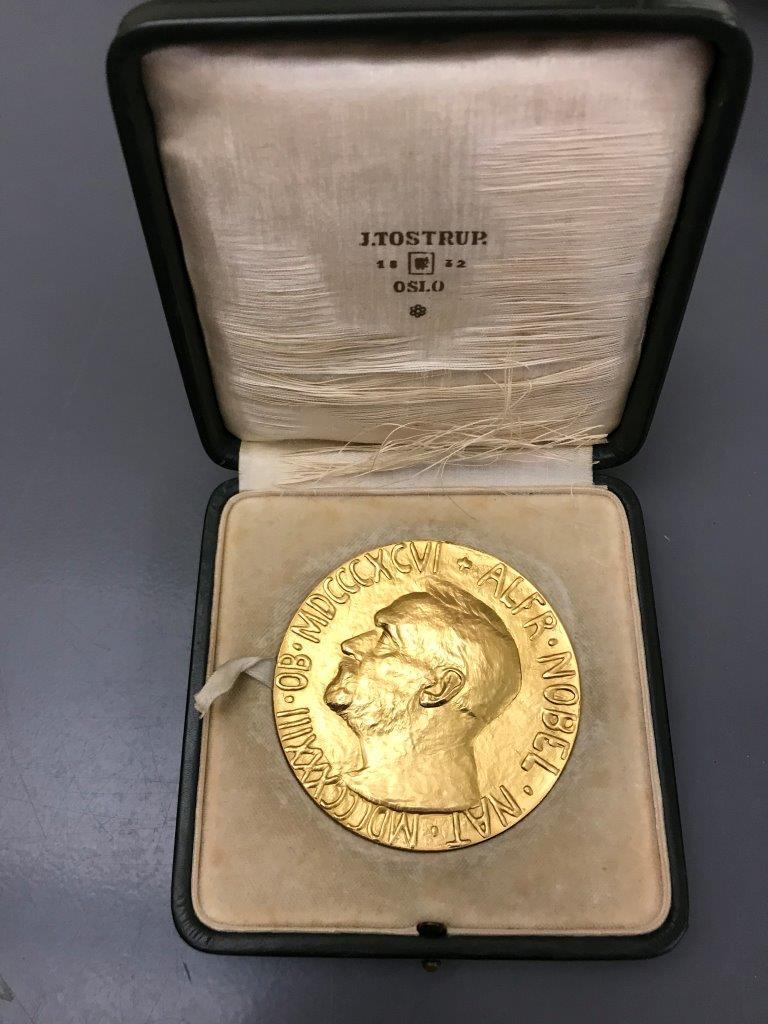 Cordell Hull Nobel Peace Prize, 1945, (Friends of Cordell Hull, Pickett County, Tennessee)