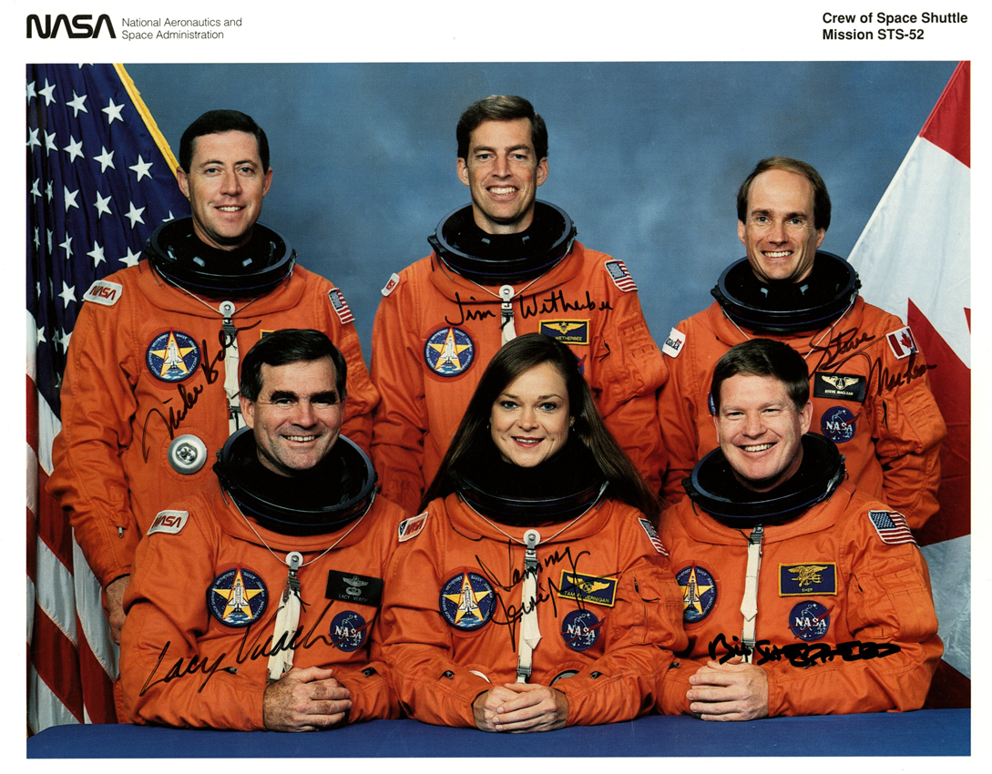 Autographed photo of the STS-52 Crew, Tennessee State MuseumCollection.