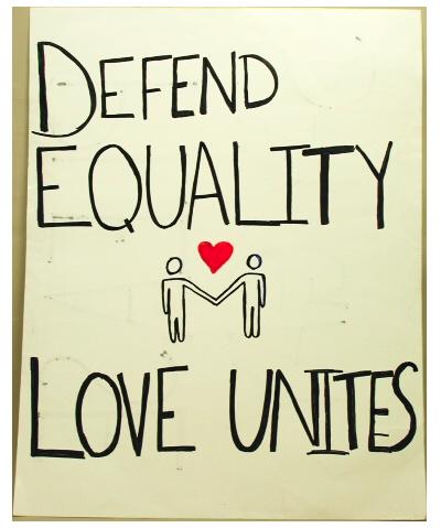Defend Equality Love Unites