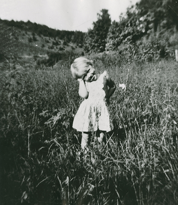 Dolly, age 3.  Photo courtesy of Chasing Rainbows Museum.
