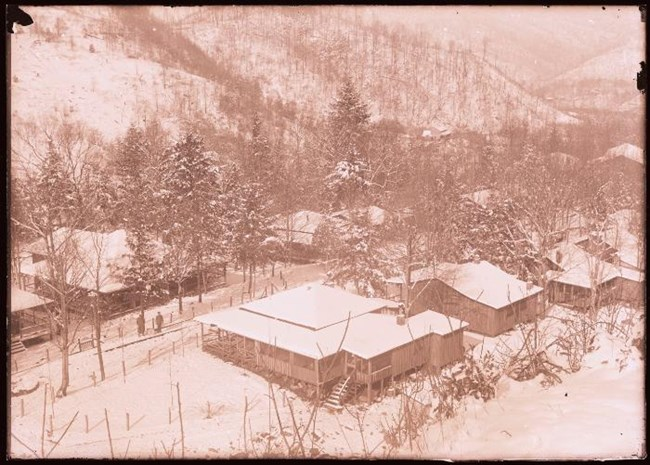 Elkmont winter circa 1928 Great Smoky Mountains National Park