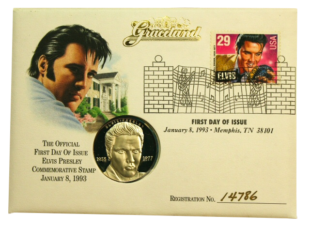 Commemorative Elvis Coin and Stamp Tennessee State Museum collection