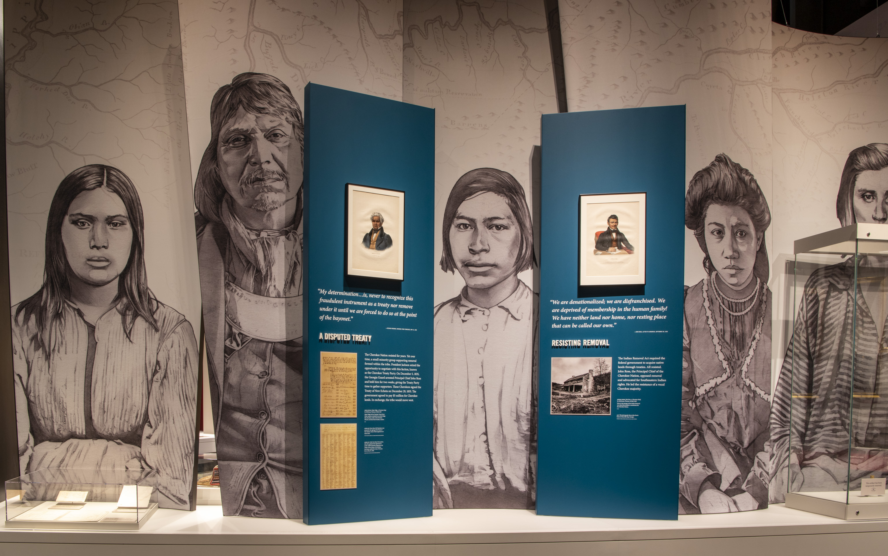 Installation view of the Museum's Forging a Nation Gallery