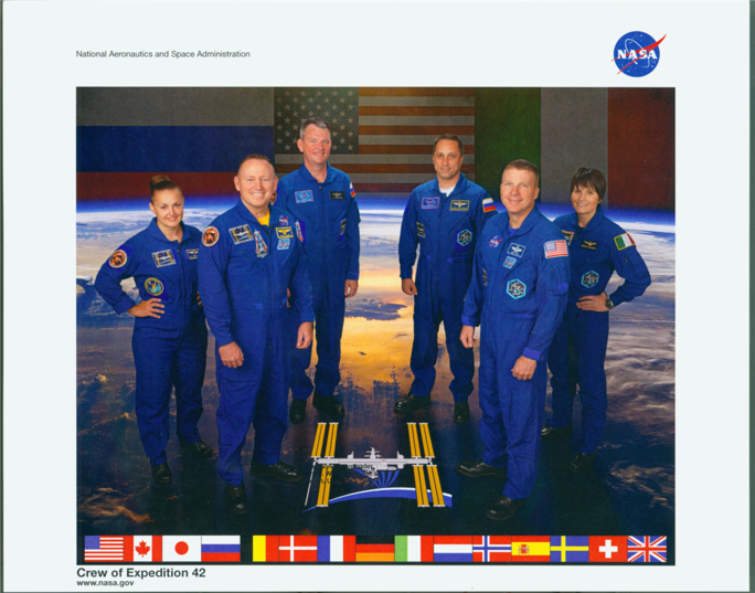 Flight Crew of Expedition 42, Tennessee State Museum Collection.