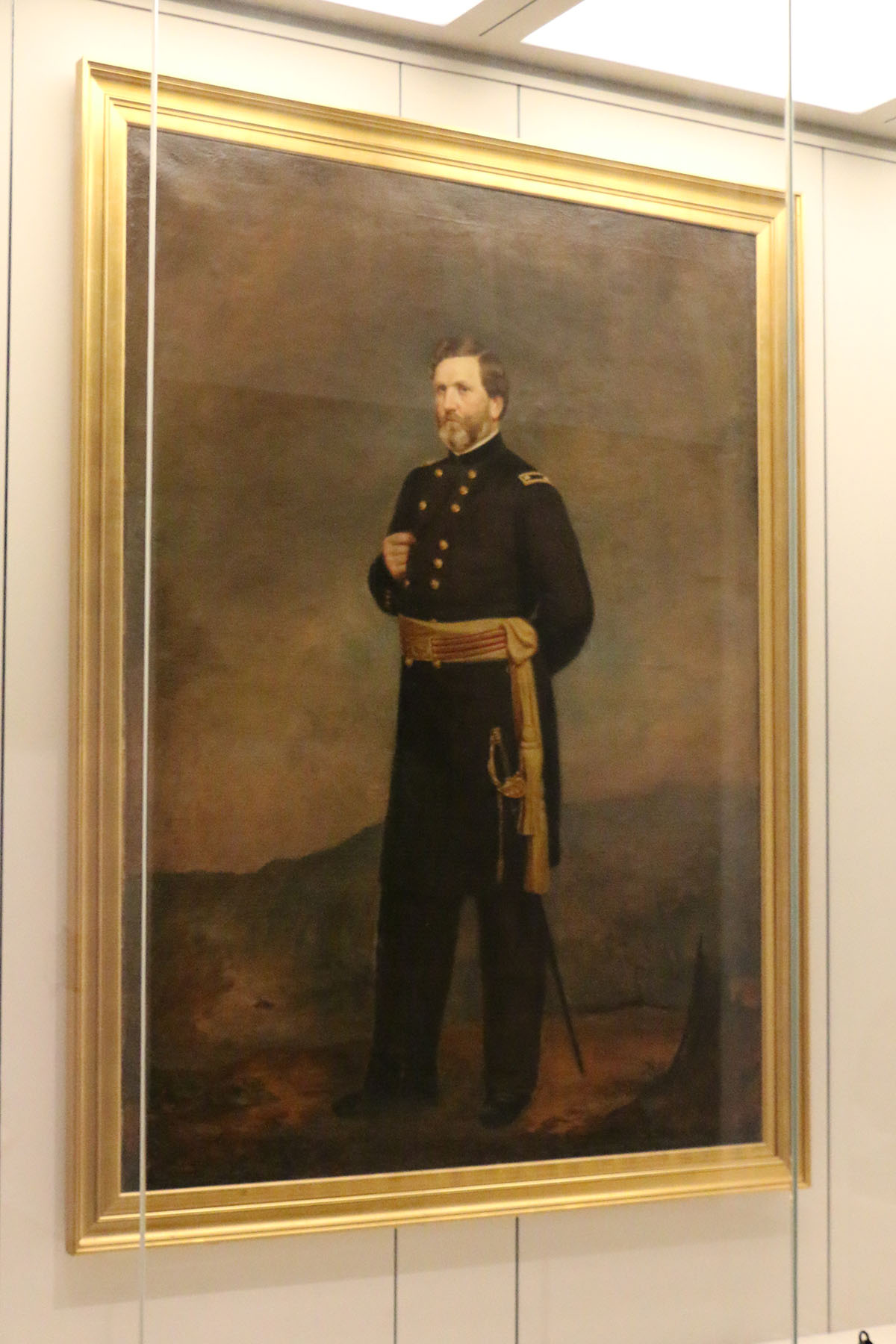 Painting of GEORGE HENRY THOMAS (1816 – 1870) Major General, United States Army, Mexican-American War, Civil War Oil on Canvas, by George Dury, 1866