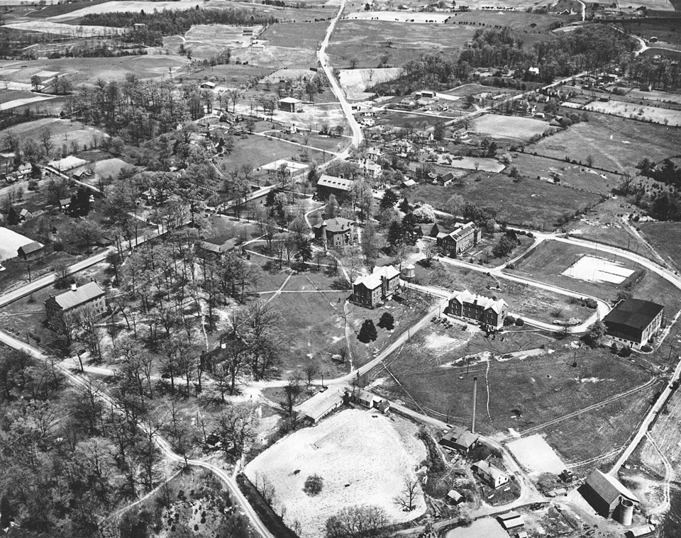 Photograph, Aerial View of Tusculum College