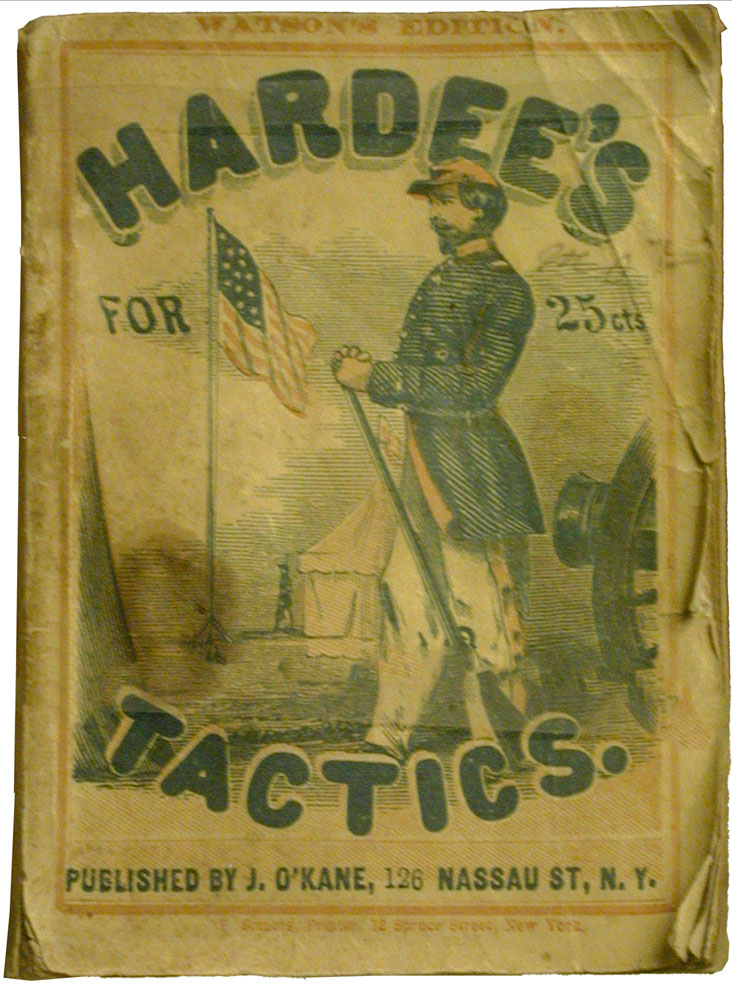 Book, Hardee's Tactics or Rifle and Light Infantry Tactics for the Exercise and Manoeuvres of Troops When Acting as Light Infantry or Riflemen, 1862. 80.236