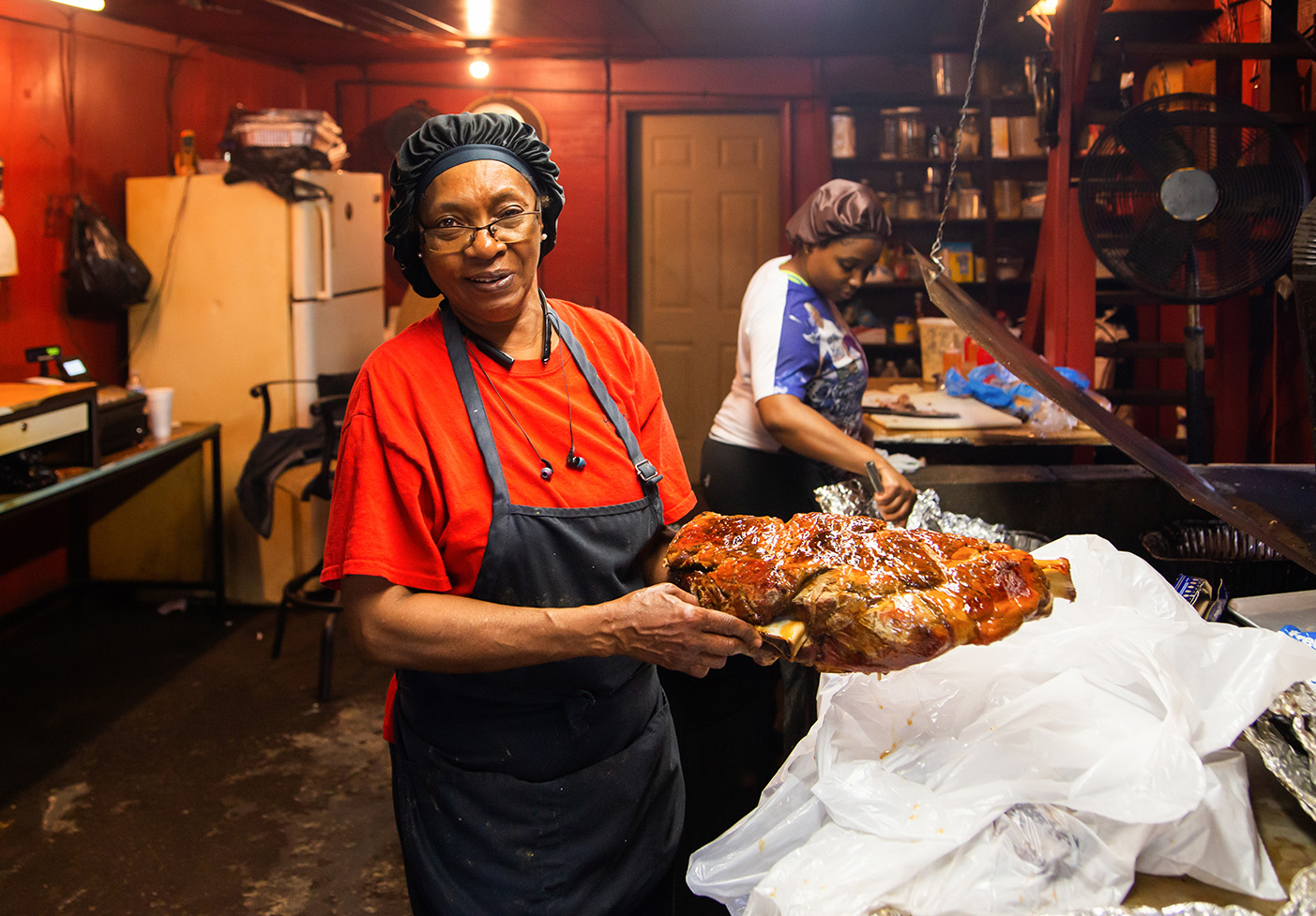 Helen Turner of Helen's Bar-B-Q, Brownsville, Haywood County
