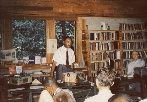 Dr. Martin Luther King Jr. at Highlander Folk School, from Blackpast.